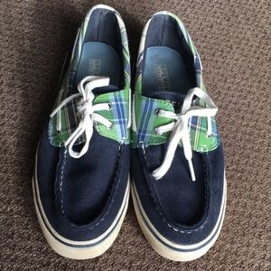 Sperry Top Sider Courduroy/Plaid boat shoes